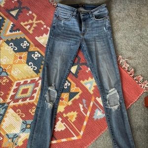 Abercrombie low rise skinny jeans